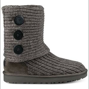 Women's Classic Cardy Ugg Boots GREY